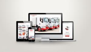 Projekt strony www Firmy transportowej Burzec