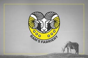Ram's Farriery logo